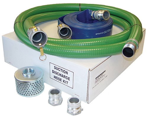 Honda Pump Suction Discharge Hose Kit, 2 hoses and a filter as well as 2 connectors