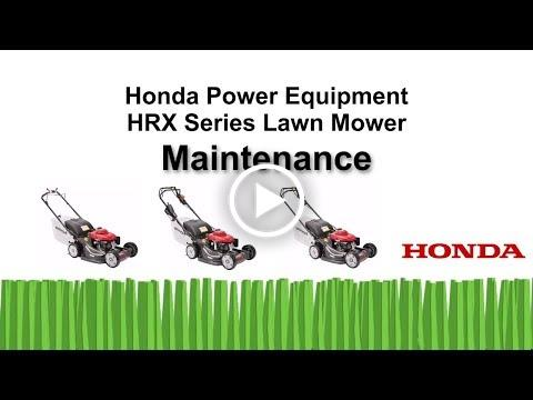 HRX Mowers Maintenance