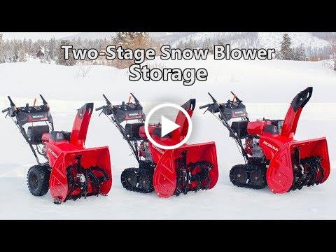 Honda Two-Stage Snow Blower Storage