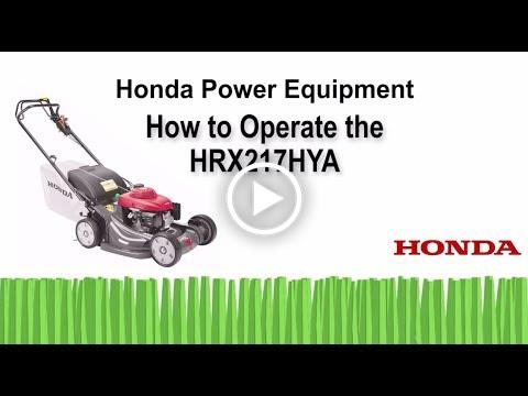 HRX217HYA Mower Operation