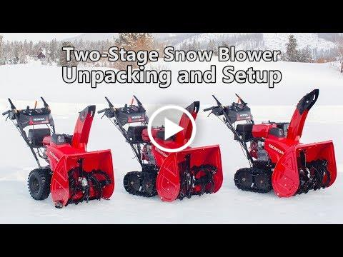 Honda Two-Stage Snow Blower Unpacking and Setup
