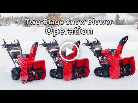 Honda Two-Stage Snow Blower Operation