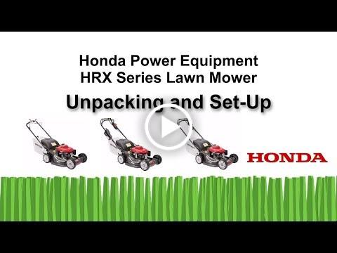 HRX Mowers Initial Set Up (K4 and Earlier)