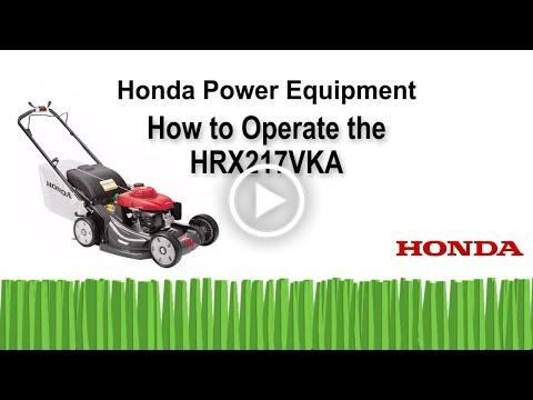 HRX217VKA Mower Operation