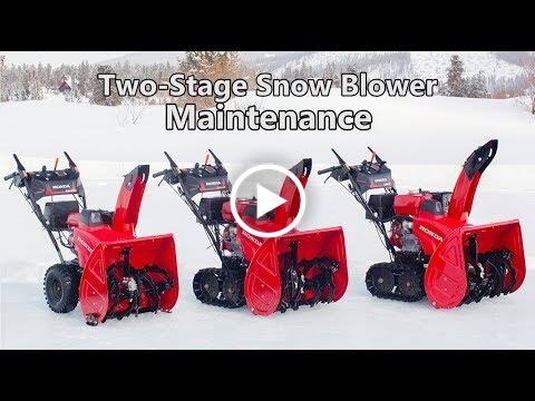 Honda Two-Stage Snow Blower Maintenance