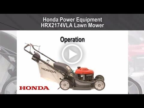 HRX217VLA Mower Operation