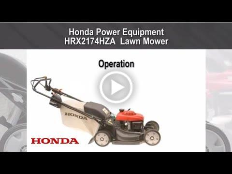 HRX217HZA Mower Operation