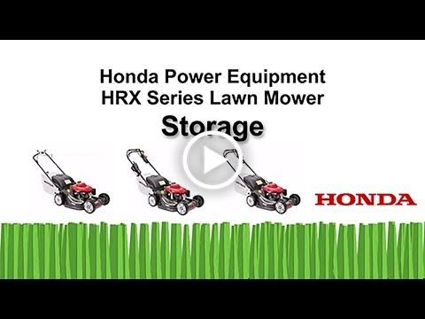 HRR Mowers Storage Tips